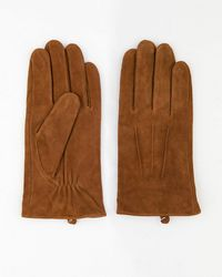 Le Chateau - Suede Gloves - Lyst
