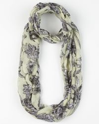 Le Chateau - Floral Print Voile Infinity Scarf - Lyst