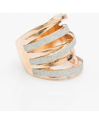Le Chateau - Glitter & Metal Ring - Lyst