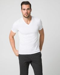 Le Chateau - Jersey V-neck T-shirt - Lyst