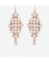 Le Chateau - Glitter Trapezoid Earrings - Lyst