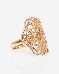 Le Chateau - Metal Filigree Ring - Lyst