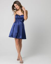 Le Chateau - Satin Sweetheart Party Dress - Lyst