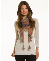 Le Chateau - Abstract Print Voile Scarf - Lyst