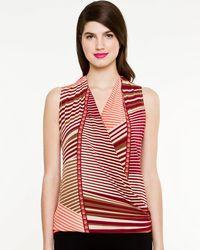 Le Chateau - Stripe Knit V-neck Top - Lyst
