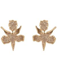 Lele Sadoughi - All Over Crystal Lily Earrings - Lyst