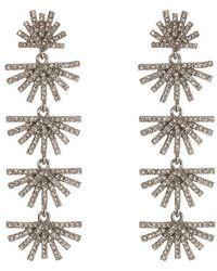 Lele Sadoughi - Crystal Palm Grass Linear Earrings - Lyst