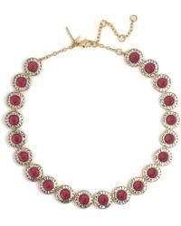 Lele Sadoughi - Crystal Token Necklace - Lyst