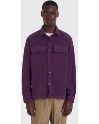 Tres Bien - Over Shirt Moleskin   Purple - Lyst