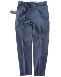 Still By Hand - Melange Face Belted Pants | Blue - Lyst