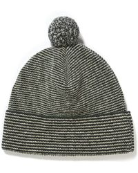 Oliver Spencer - Wool Striped Bobble Hat - Lyst