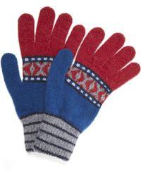 Quinton-chadwick - Fairisle Knitted Gloves - Lyst