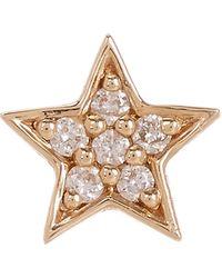 Andrea Fohrman - Gold White Diamond Mini Star Single Stud - Lyst