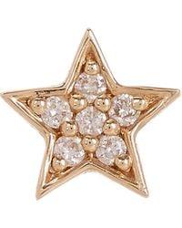 Andrea Fohrman - Gold White Diamond Mini Star Stud Earring - Lyst