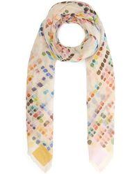 Faliero Sarti - Digital Paint Woven Cotton Scarf - Lyst