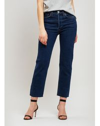 RE/DONE - Stove Pipe High Rise Jeans - Lyst