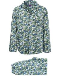 Liberty - Thorpe Long Cotton Pyjama Set - Lyst