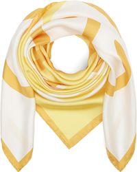Loewe - Giant Anagram Logo Square Silk Scarf - Lyst