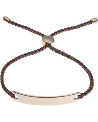 Monica Vinader - Rose Gold-plated Havana Metallica Cord Friendship Bracelet - Lyst
