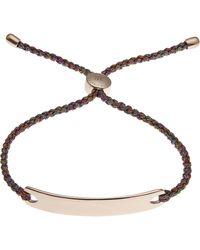 Monica Vinader - Rose Gold-plated Havana Metallica Cord Friendship Bracelet - Lyst