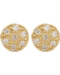 Brooke Gregson - Gold Mini Mars Stud Earrings - Lyst