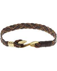Paul Smith - Leather Wrap Hook Bracelet - Lyst