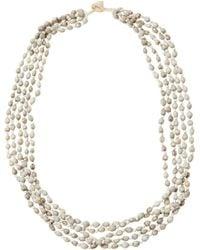 Eskandar - White Tears Of Virgin Mary Long Necklace - Lyst