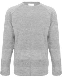 Norse Projects - Grey Bubble Knit Jumper - Lyst