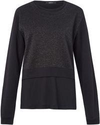 Denham - Black Tier Metallic Sweater - Lyst