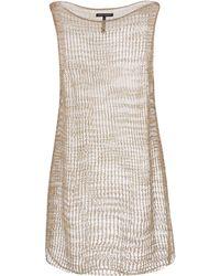 Sarah Pacini - Beige Oulmes Sparkle Mid Length Dress - Lyst