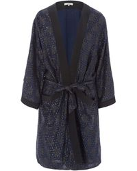 Ganni - Lurex Textured Emiko Kimono Jacket - Lyst