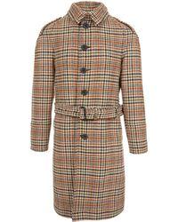 Burberry - Tweed Trench Coat - Lyst