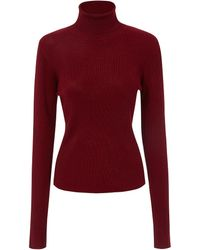 8ce3eed188 Rodebjer - Michele Roll Neck Ribbed Knit Top - Lyst