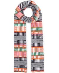 Quinton-chadwick - Rainbow Grid Scarf - Lyst