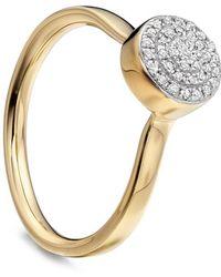 Monica Vinader - Gold Vermeil Diamond Ava Button Ring - Lyst