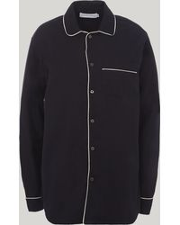 Desmond & Dempsey - Brushed Cotton Pyjama Top - Lyst