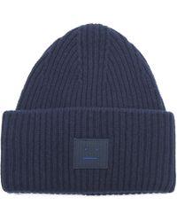 Acne Studios - Pansy Face Wool Beanie Hat - Lyst 18d9234ebdd5