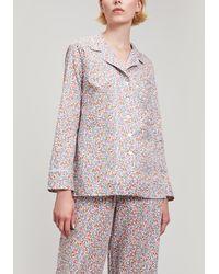 Liberty - Emilia's Bloom Tana Lawn Cotton Long Pyjama Set - Lyst