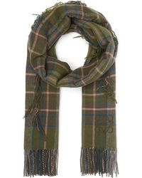 Loewe - Checked Cashmere And Wool Scarf - Lyst