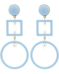 Lele Sadoughi - Turquoise Cage Earrings - Lyst