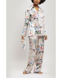 Liberty - Keiko Silk Charmeuse Pyjama Set - Lyst