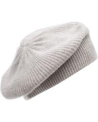 CASH CA - Milled Cashmere Beret Hat - Lyst