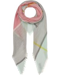 Johnstons - Cashmere Colour-block Scarf - Lyst