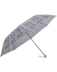 London Undercover - Strawberry Thief Liberty Print Compact Umbrella - Lyst