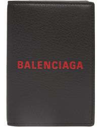 Balenciaga - Logo Passport Card Holder - Lyst