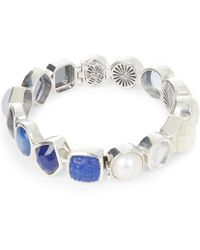 Stephen Dweck - Silver Carved Multi-stone Bracelet - Lyst