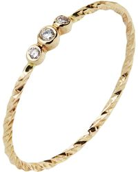 Maria Black - Gold Diamond Cut Jessa Ring - Lyst