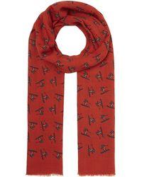 Drake's - Ski Print Wool Scarf - Lyst