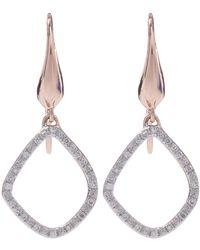 Monica Vinader - Gold-plated Diamond Riva Kite Earrings - Lyst