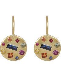 Polly Wales - Gold Harlequin Celeste Disc Earrings - Lyst
